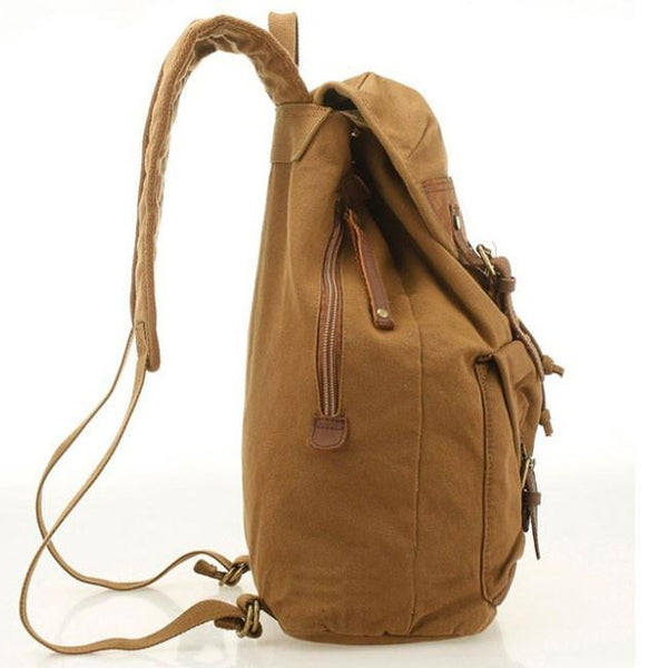 Vintage Canvas Outdoor Hiking Rucksack Women Men's Laptop Bag Large Camping Backpack For Big Sale!- Fowish.com