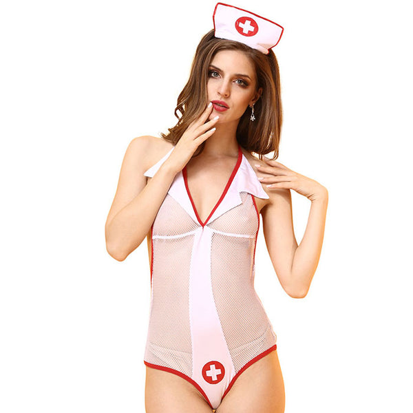 Sexy Nurse Costume Role Play Perspective  Nurse Cosplay Conjoined Female Lingerie