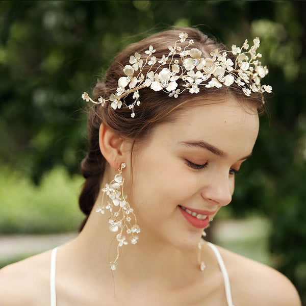 Fresh Flower Wedding Headdress Mori Garland Bridal Handmade Crown Hair Accessories