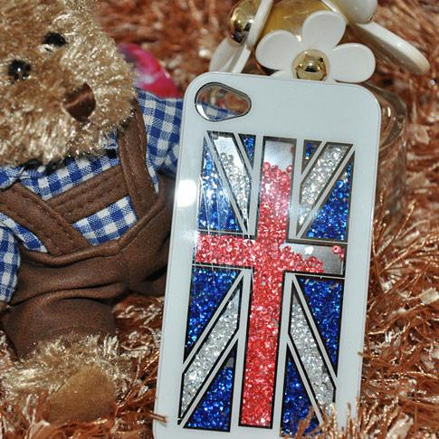 Shining UK Flag Crystal Iphone 4/4s/5 Case For Big Sale!- Fowish.com