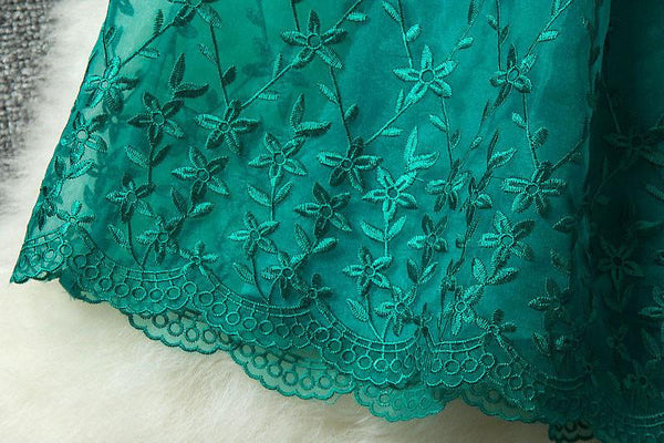 New Style Starfish Embroidered Organza Skirt Dress - lilyby