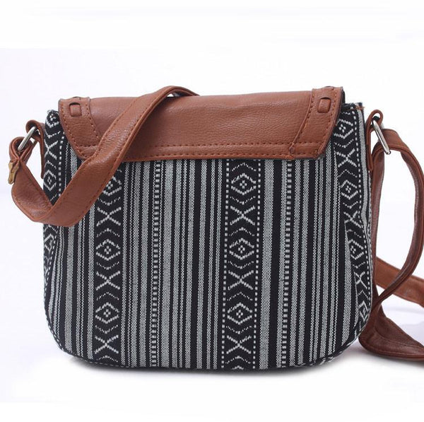 Geometric Canvas Shoulder Bag Stripes Prints  Mini Bag For Big Sale!- Fowish.com