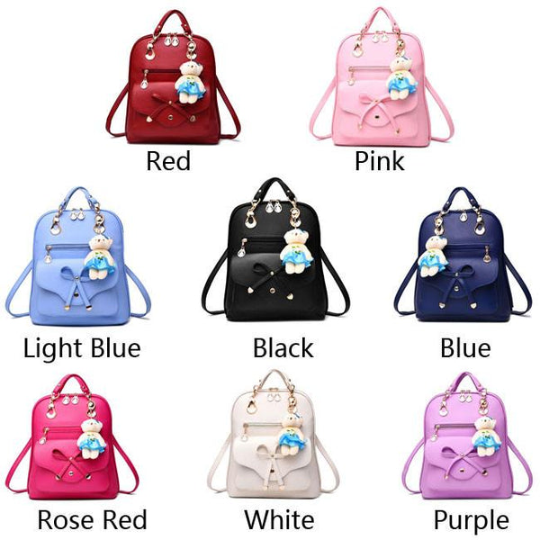 Fashion Multifunction Pu Bow School Rucksack Casual Bow-knot Shoulder Bag College Backpack For Big Sale!- Fowish.com