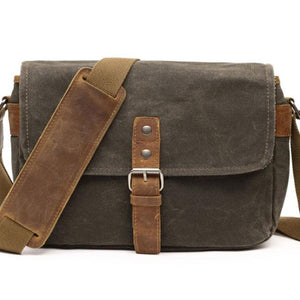 Retro Thick Canvas Outdoor Single Button Messenger Bag Shoulder Bag For Big Sale!- Fowish.com
