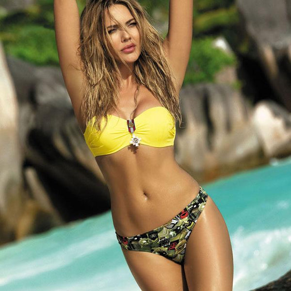 New Camouflage Sling Women's Bikini Sexy Badge Swimsuit For Big Sale!- Fowish.com