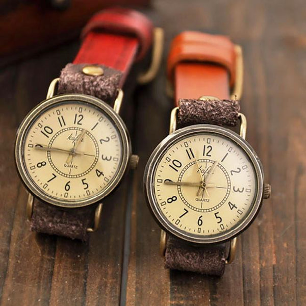 Retro Classical Quartz Cortical Leather Waterproof Wrist Watch For Big Sale!- Fowish.com