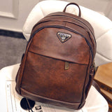 Retro British Style Leisure Girl's School Brown College Backpack For Big Sale!- Fowish.com