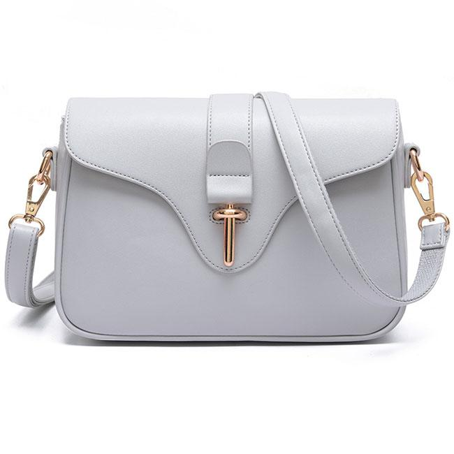 Elegant Simple OL Style Metal Lock Flap Girl's PU Shoulder Bag For Big Sale!- Fowish.com