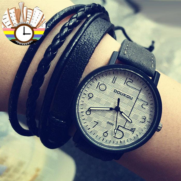 Unique Personality Dial Retro Leather Wrist watch For Big Sale!- Fowish.com