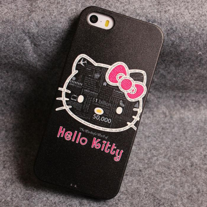 Lovely Kitty Relief Silicone Soft Iphone Cases For 5/5S - lilyby