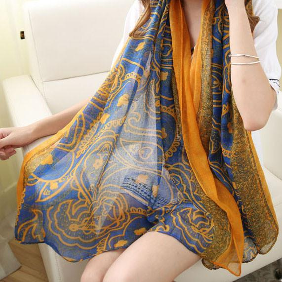 Flower Shawl Scarf Dual Beach Towel Girl Sunscreen Scarf - lilyby