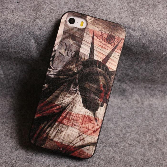Statue of Liberty Zero Star Relief Silicone Soft Iphone Cases For 5/5S For Big Sale!- Fowish.com