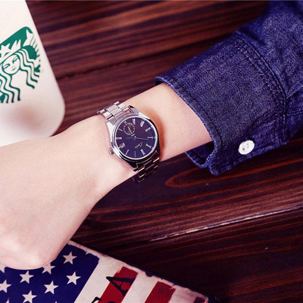 Simple Big Dial Student Leisure Couple Ultra-thin Waterproof Man Quartz Watch For Big Sale!- Fowish.com