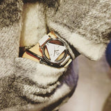 Fashion Roman Numerals Geometric Patterns Hollowed-out Designed Triangle Dial Quartz Watch For Big Sale!- Fowish.com