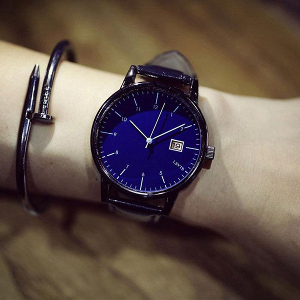 Retro Simple Couple Student Big Dial Leisure Women Watch For Big Sale!- Fowish.com