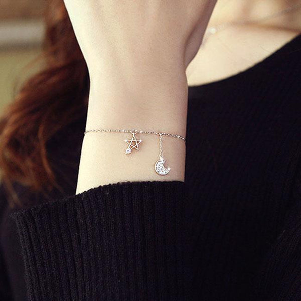 Unique Design Star Moon Fashion Alloy Fashion Women Bracelet For Big Sale!- Fowish.com