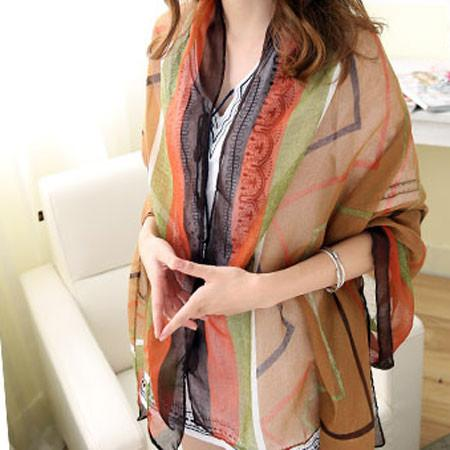 Irregular Shapes Shawl Scarf Dual Women Beach Towel Sunscreen Scarf - lilyby