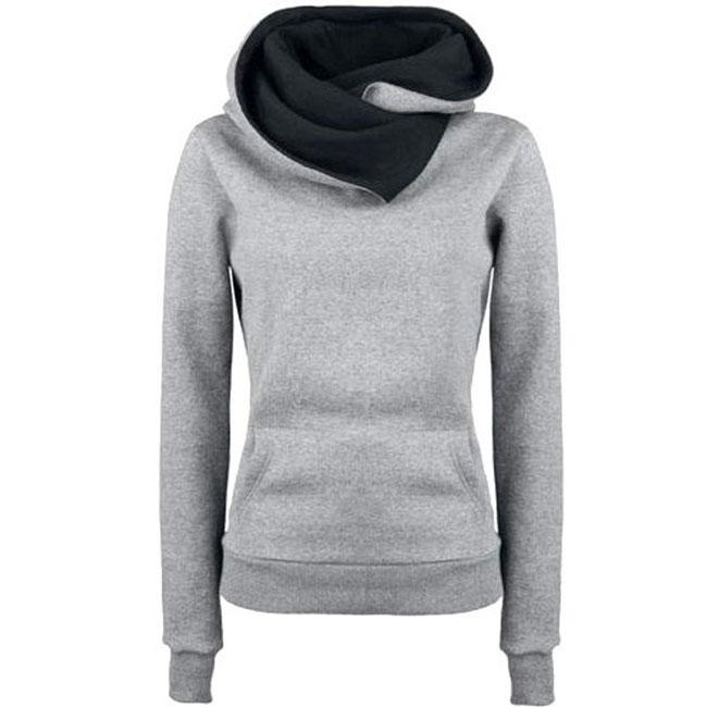 Fashion Turn-down Collar Hoodie Sweater Pullovers Coat Autumn Women's Thick jacket For Big Sale!- Fowish.com
