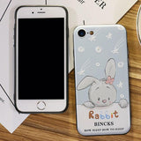 Sweet Rabbit Shooting Stars Iphone 6/6s/6 plus/6s plus/7/7 plus Iphone Cases For Big Sale!- Fowish.com