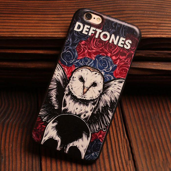 Tiger Owl Flower Girl Relief Silicone Soft Cases For Iphone 5/5S/6/6S For Big Sale!- Fowish.com