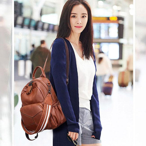 Fashion PU Large Leather Multi-function Shoulder Bag School Backpack For Big Sale!- Fowish.com