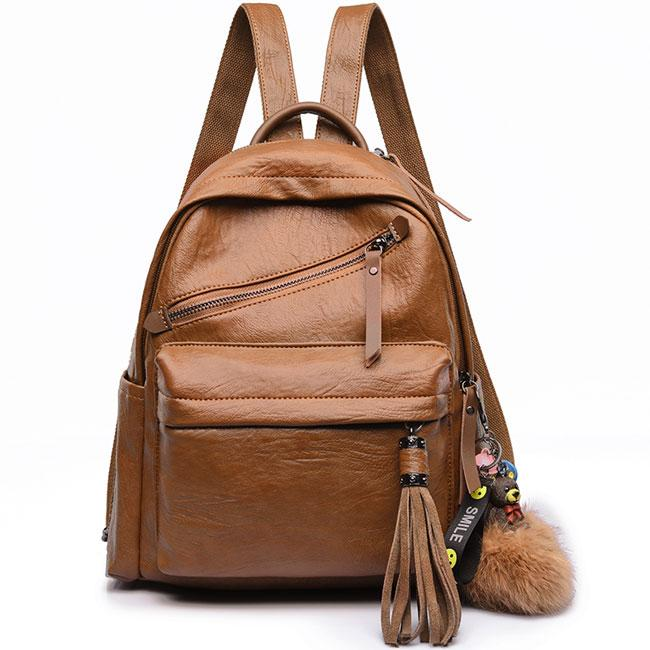 Vintage Casual Outdoor Sports PU School England Style Tassels Travel Backpack For Big Sale!- Fowish.com