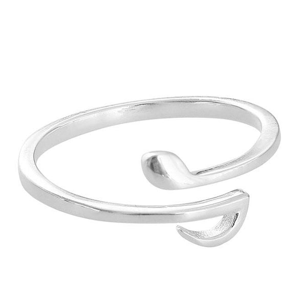Cute Music Notes Silver Open Women Ring For Big Sale!- Fowish.com