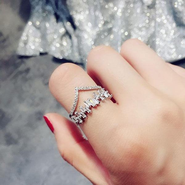Fashion Exaggeration Full Diamond Adjustable Open Ring For Big Sale!- Fowish.com