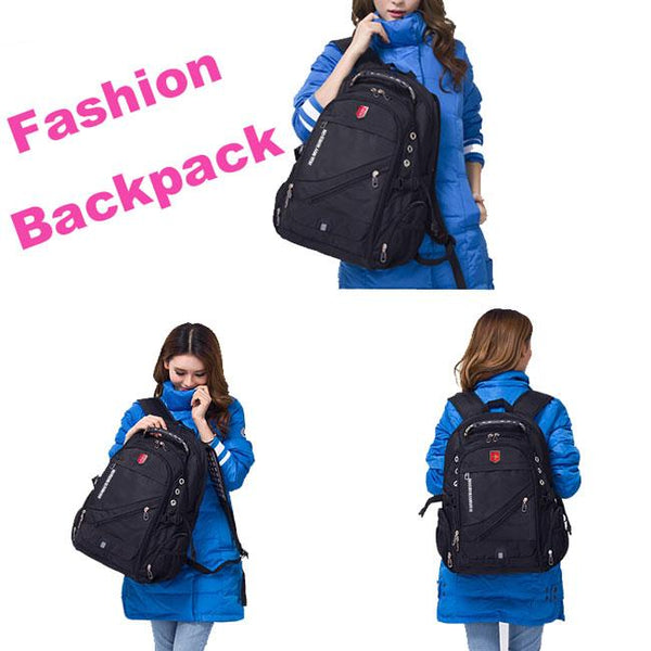 High Quality  Nylon Oxford Bag Waterproof Black Large Multi-functional Outdoor Camping Travel Backpack For Big Sale!- Fowish.com