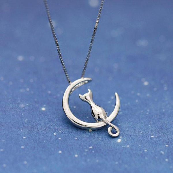 Cute Kitty Cat Silver Necklace For Big Sale!- Fowish.com