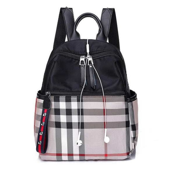 Casual Multifunction School Bag Plaid Oxford Backpack For Big Sale!- Fowish.com