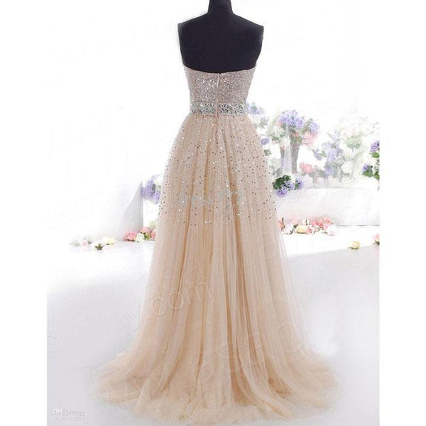 Elegant Women's Chiffon Sequins Tee Dress Formal Long Evening Dress Party Prom Bridesmaid Maxi Dress For Big Sale!- Fowish.com