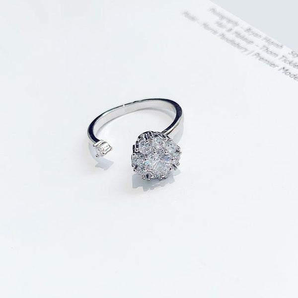 Unique Adjustable Fashion Silver Open Diamond Ring For Big Sale!- Fowish.com