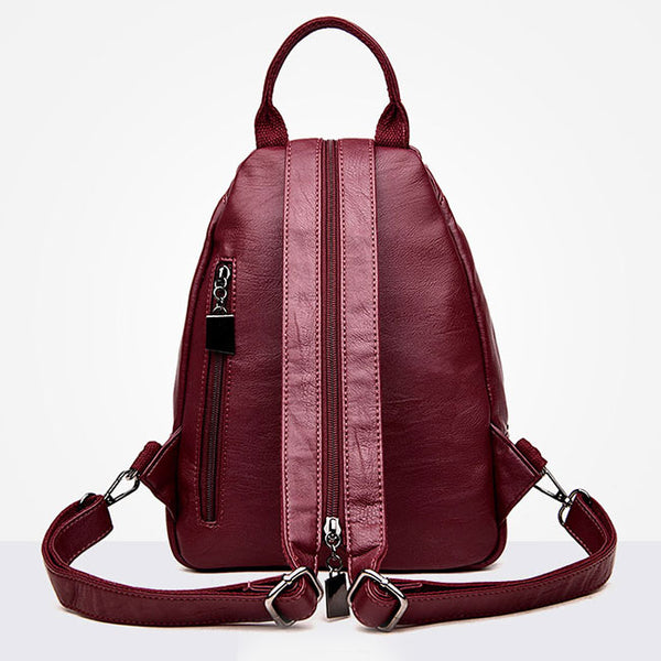Leisure Multifunction Shoulder Bag Pu Mini Small Single Buckle Girl's Backpack
