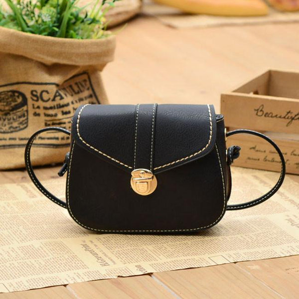 Fashion Mini Black Brown Button Women Messenger Bag Shoulder Bags - lilyby