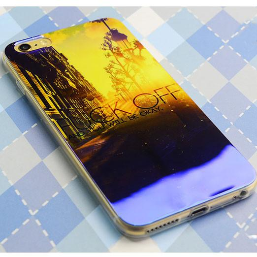 Bright City Sunrise Sunset Silica Gel Thin Soft Case For Iphone 5/5S/6/6Plus - lilyby