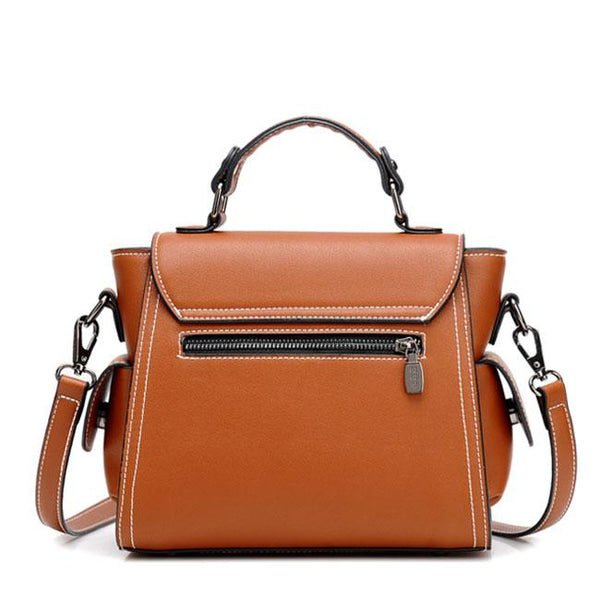 Retro Brown Single Button Elegant Women's PU Shoulder Bag For Big Sale!- Fowish.com