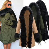 Fur Collar Star Love Hooded Jacket Long Winter Coat Windbreaker For Big Sale!- Fowish.com