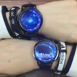 Fashion LED Light Touch-screen Control Dial Starry Sky Captain America Iron Man Couple Watch For Big Sale!- Fowish.com
