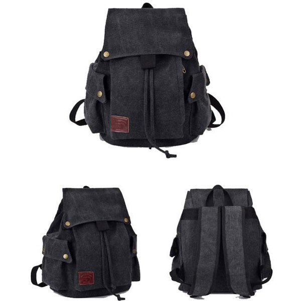 Leisure Brown Khaki Student Outdoor Backpack Retro Canvas School Rucksack For Big Sale!- Fowish.com