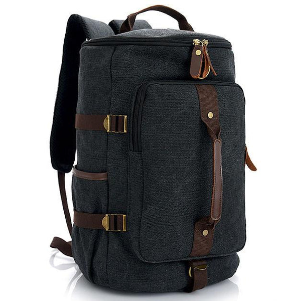 Retro Men's Gym Shoulder Bag Handbag School Canvas Backpack Multifunction Zipper Large Capacity Travel Backpack For Big Sale!- Fowish.com