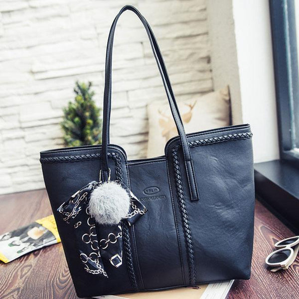 Retro Girl's PU Whole Color Sewing Thread Weave Shoulder Bag Handbag For Big Sale!- Fowish.com