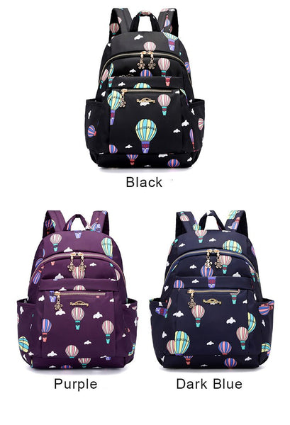 Cartoon Hot Air Balloon Oxford Nylon School Bag Student Backpack For Big Sale!- Fowish.com