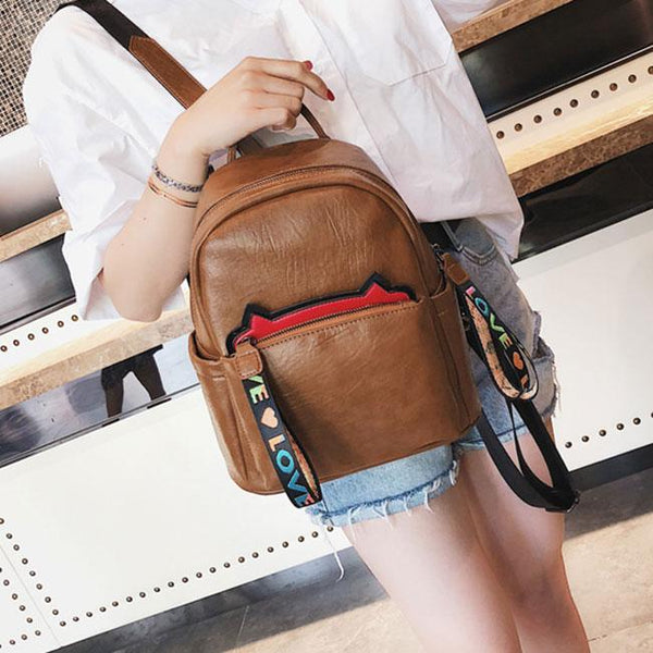 Cute Cat Ears Soft PU School Bag Kitten Ear College Backpack For Big Sale!- Fowish.com