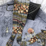 Fashion Bohemian Patterns Printing Mesh Thin Sun Block Ninth Women Leggings For Big Sale!- Fowish.com
