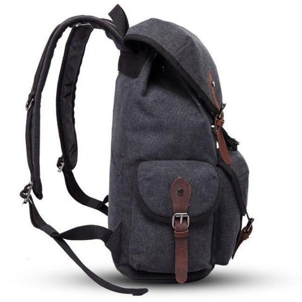 Leisure Thick Canvas Large Three Pockets Multi-function Rucksack Outdoor Travel Backpack For Big Sale!- Fowish.com
