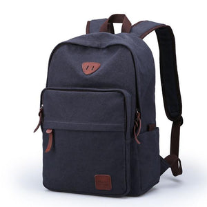 Simple Leisure Large Travel Bag Canvas Men's Backpack For Big Sale!- Fowish.com