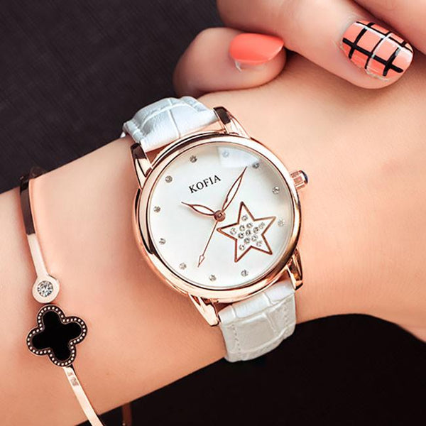 Eleghant Diamond Quartz Cortical Star Luminous Waterproof Women Wrist Watch For Big Sale!- Fowish.com