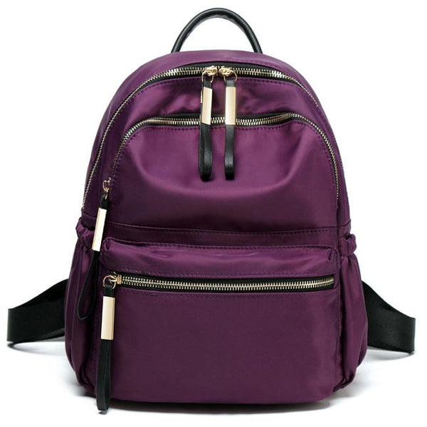 Leisure Simple Pure Color Waterproof Oxford School Bag Student Backpack For Big Sale!- Fowish.com
