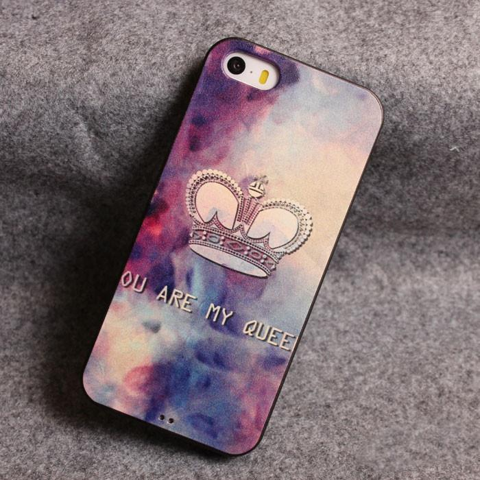 vintage Star Crown Relief Silicone Soft Iphone Cases For 5/5S For Big Sale!- Fowish.com
